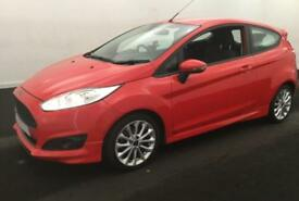 2014 RED FORD FIESTA 1.0 ECOBOOST 125 ZETEC S 3DR HATCH CAR FINANCE FR £25 PW
