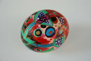 Ostrich Egg Hand-painted By Canadian Artist Toller Cranston