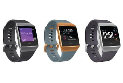 Brand New Sealed Fitbit Ionic Smart Watch   Charcoal Gray   Orange Blue   Silver