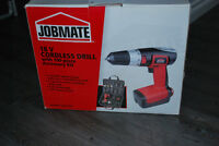 Jombate 18V cordless drill with 100-piece accessory kit