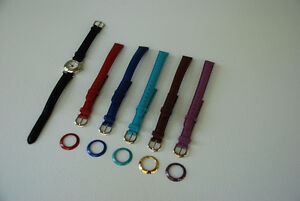 12 Interchangeable Coloured Bands & Faces - Ladies' Watch