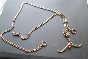 14-KT-GOLD-POCKET-WATCH-FOB-CHAIN-
