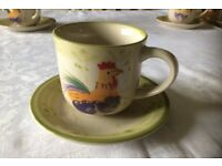 Cup and saucer set - 8 sets