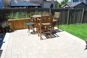 Interlock patios & Pergolas! Save now!