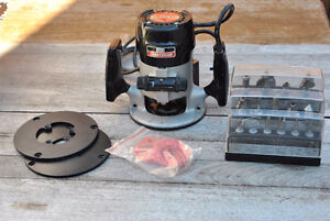 Sears Craftsman Router with 14 Carbide Tipped Router Bits