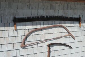 Antique crosscut and bow saw
