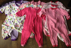 18-24 month lot of girls sleepers immaculate