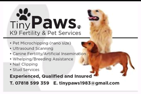 K9 fertility and pet services scanning microchipping