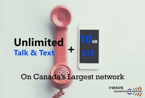 10GB LTE + Canada & USA wide talk and text for only $70 / month