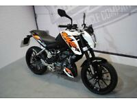 2017 - KTM 125 DUKE 17 125CC, IMMACULATE CONDITION, £3,350 OR FLEXIBLE FINANCE