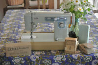 Retro Brother Sewing Machine w/ Buttonholer & Tailor's Crayons