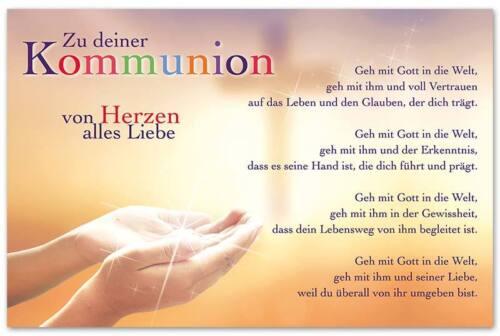 10 Glückwunschkarten zur Kommunion Geldkarte Wunsch Grußkarten Hüllen 120-1426 A