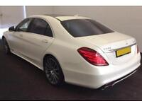2015 WHITE MERCEDES S500 L PHEV 3.0 AMG LINE HYBRID SALOON CAR FINANCE FR £159PW