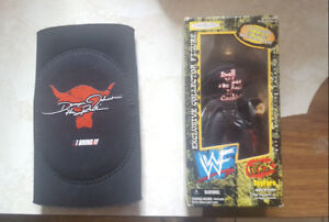 WWE The Rock Limited 1 of 10,000 figure & Kids Elbow Pad
