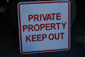 2 - Private Property Signs