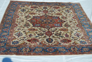 11.1 F BY  8.4 F Wool Pile Handwoven Persian Rug