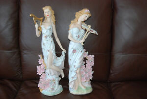 Two Gorgeous Female Figurines