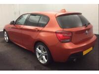 2015 ORANGE BMW 118D 2.0 M SPORT DIESEL MANUAL 5DR HATCH CAR FINANCE FR £50 PW