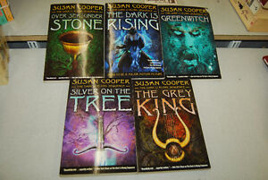5 Book Dark Is Rising Series by Susan Cooper.