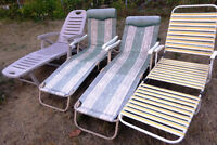 Various lawn chairs