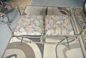 Antique looking hall bench