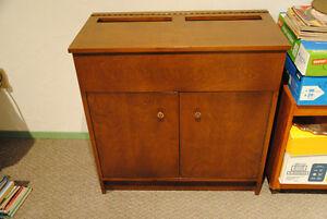 Flip-top cabinet with 2 doors - solid wood