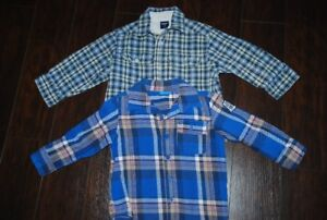 2 Flannel shirts Size 3T