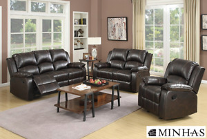 Brand NEW Munich Chocolate Recliner Sofa Set! Call 204-691-8283!