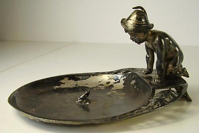 Antike schöne WMF Schale Junge Spielend mit Kröte um 1910