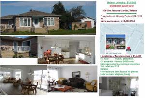 Maison à vendre $159,000 à Matane