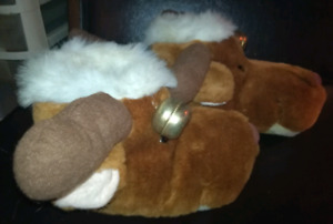 Reindeer Slippers to warm your feet for the holidays!
