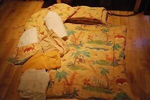 literie complète pour bassinette thème animaux de la jungle