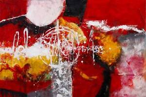 red abstract oil based painting ready to put on wall Brisbane City Brisbane North West Preview