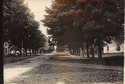 Ny   1909 Real Photo Residential Street At Yorkshire  New York   Cattaraugus Co