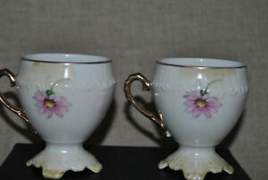 2 X   Footed tea cup c 1880