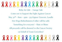 Relay for Life - Garage Sale