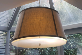 Stunning Linen Pendant Light