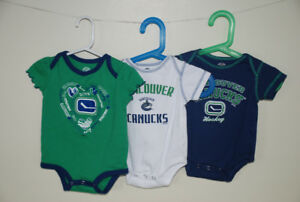 Vancouver Canucks infant onesies Size 12 months
