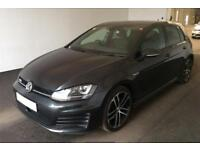 2016 GREY VW GOLF 2.0 TDI 184 GTD DIESEL MANUAL 5DR HATCH CAR FINANCE FR £58 PW
