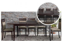 Lydia 7pc Modern Contemporary Extendable Dining Set, $495