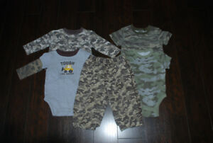 Camo clothing 12 - 18 months