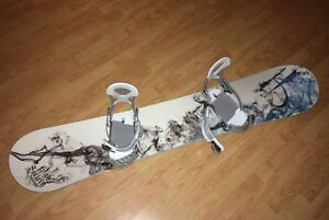 Snowboard- High Society - 154 cm - Ride Bindings incl.
