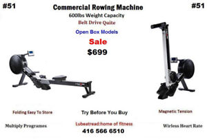 Lifecore R100 Commercial Rower Rowing Machine, RatedUpTo 600lbs