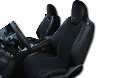 CHEVY CAMARO 2010-2015 BLACK LEATHER-LIKE CUSTOM FIT FRONT SEAT COVER Blk Leather Like Cover