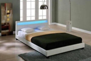 $$SALE - Brand New Moto LED Bed Double Queen Bed Frame