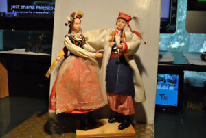 Vintage Handmade Polish Folk Art Wedding Couple
