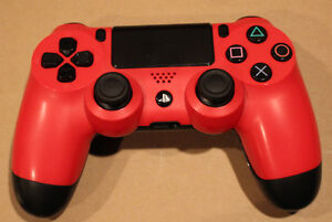 PS4 Controller Game Pad Red Used