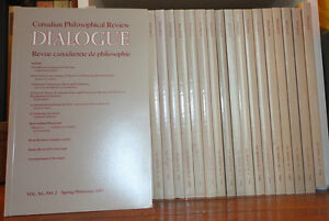A Decade of DIALOGUE: CANADIAN PHILOSOPHICAL REVIEW