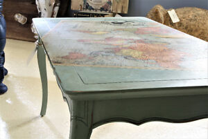 SOLD--COFFEE TABLE, FRENCH PROVINCIAL, REFINISHED--SOLD