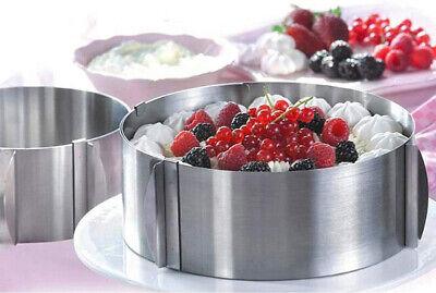 Anello stampo x dolci regolabile 15 a 30 cm stampi per torte mousse cake design